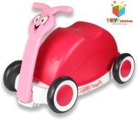 Toys Bhoomi Multipurpose 3-in-1 Push, Pull & Ride-on Walker Snail Wagon (Pink)