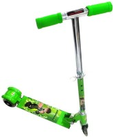 Basetronix 3 Wheel Ben10 Scooter Foldable For Kids (Green)