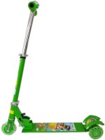 NDS Green 3 Wheel Skating Scooter With Shock Absorbers And Bell For Kids (Foldable, Height Adjustable) (Green)