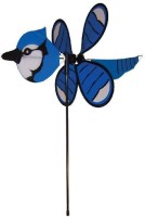 In The Breeze Baby Blue Jay Garden Spinner (Multicolor)