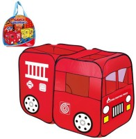 Toys Bhoomi Children's School Bus Play Tent - 100% Safe Polyester Fabric (Red)