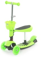 The Flyer's Bay 3 In 1 Sit Or Kick & Height Adjustable Scooter For Kids (Green)