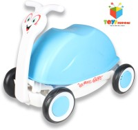 Toys Bhoomi Multipurpose 3-in-1 Push, Pull & Ride-on Walker Snail Wagon (Blue)
