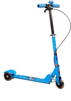 ADYGM Blue 3 Wheel Skating Scooter With Hand Brake And Bell For Kids (Foldable, Height Adjustable) (Blue)