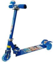 ODDEVEN Blue 3 Wheel Skating Scooter With Shock Absorbers And Bell For Kids (Foldable, Height Adjustable) (Blue)