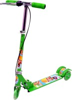 NaughtyKid Foldable Star Scooter With Hand Brakes And Led Lights In Wheels (Green)