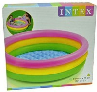 E'Shop Intex Inflatable 3 Ft Baby Swimming Pool (Multicolor)