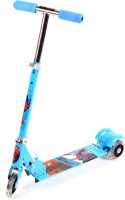 Basetronix 3 Wheel Spiderman Scooter Foldable For Kids (Blue)