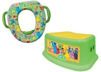 Baby & Child Sesame Street Potty And Step Stool Combo Set, Framed Friends (Multicolor)