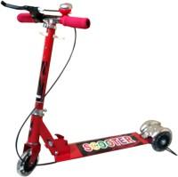 Zaprap Red 3 Wheel Steel Scooter With Break & Bell (Red)