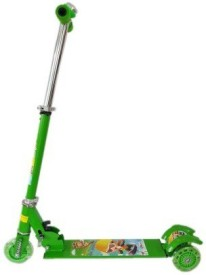 Toy World Foldable Green scooter with bell