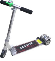 Scrazy Rollerboard 3 Wheel Kids Scooter With Brea (Silver, Black)