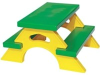 OK Play Joy Station Table And Chair For Kids (Yellow, Green)