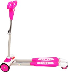 Deep Sales Four Wheel Y Fliker Folding Skate Scooter Pink