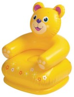 A M Enterprises Yellow Inflatable Teddy Chair For Kids (Yellow)