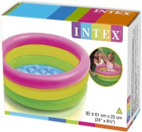 KB's Intex Inflatable 2 Ft Baby Swimming Pool (Multicolor)