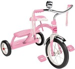 Radio Flyer Outdoor Toys Radio Flyer Girls Classic Dual Deck Tricycle, Pink