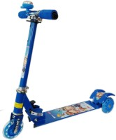 NDS Blue 3 Wheel Skating Scooter With Shock Absorbers And Bell For Kids (Foldable, Height Adjustable) (Blue)