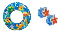 Intex Combo Of Swimming Tube & Safety Arm Bands (Multicolor)