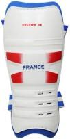Vector X France Large Shin Pads (White, Blue, Boys, Girls, Men)