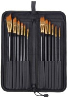 HealthIQ Mix Paint Brushes (Set Of 12, Black)