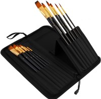 Pigloo Filbert, Angular, Round, Flat Paint Brushes (Set Of 12, Black)
