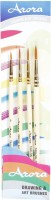 Kabeer Art Series 7 Round Paint Brushes (Set Of 4, White)