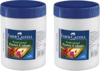 Faber-Castell Professional Poster Colour Poster Color Bottle (Set Of 2, White)