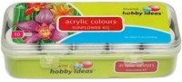 Fevicryl Hobby Acrylic Colours Bottle (Set Of 10, Green)