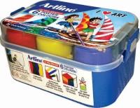 Artline Poster Colour Water Paint Rectangle (Set Of 6, Mutli-Colour)
