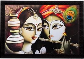 eCraftIndia Radha Krishna Canvas Painting