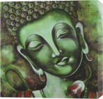 Printasia,In 1 oil painting of a beautiful face of budhha Canvas print.