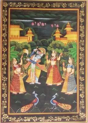 Indiana Mnrsilk Krishna Dancing With Gopis