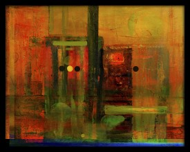 WallsnArt Abstract Framed without Glass Oil Painting