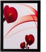 eCraftIndia Heart Share Roses Matt Textured UV