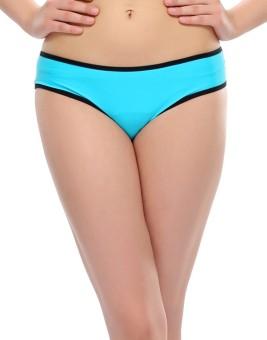 Clovia Blue Trendy Brief With Power Net Girl's Bikini Panty Pack Of 1