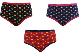 Red Rose Mannequin Baby Girl's Hipster Panty Pack Of 3