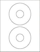 R R Enterprises 2- CD Sticker Self Adhesive Paper Label (White)