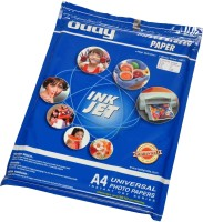 Oddy Universal Coated Glossy For All Inkjet Printers 260 GSM Unruled A3 Photo Paper (Set Of 1, White)