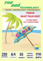 DDS Inkjet TASLIN ID CARD 5 Sheet Pack A/4 Printer Paper (Set Of 1, White)