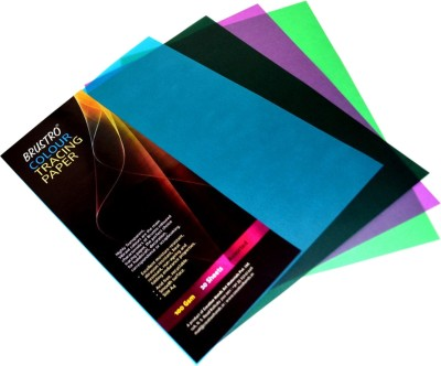 Brustro Colour Tracing Paper Unruled A4 Drawing Paper - Assorted