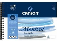Canson Montval Unruled A4 Watercolor Paper (Set Of 1, Natural White)