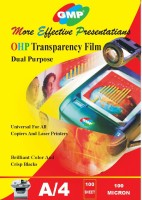 GMP A4 OHP 100 Micron Transparency Film 100 Sheet Unruled A4 OHP (Set Of 1, Transprent)