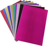 Deligao Pack Of 10 Neon Colored Unruled A4 Corrugated Paper (Set Of 10, Multicolor)