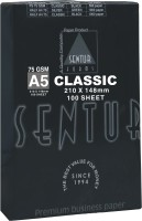 Sentur 75 GSM Classic 100 Sheet (Specially Made For Inkjet & Laser Printer) Unruled A5 ( 210 Mm X 148 Mm ) Printer Paper (Set Of 1, Ultra White)