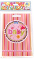Funcart Butterfly Baby Lootbag Printed Party Bag (Pink, Pack Of 6)