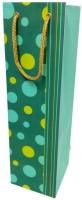 PrintSpeaks Polka Dots Design Bottle Shape Contemporary Printed Party Bag (Multicolor, Pack Of 10)