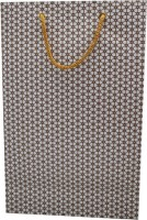 P M Premier Pearl Bell Printed Party Bag (White, Pack Of 10)