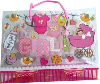 Elegant Gift Shop It's A Girl! Printed Party Bag (Pink, Pack Of 1) - PGBE8UZJU63ZQGK8