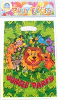 Funcart Jungle Party Lootbag Printed Party Bag (Green, Pack Of 6)